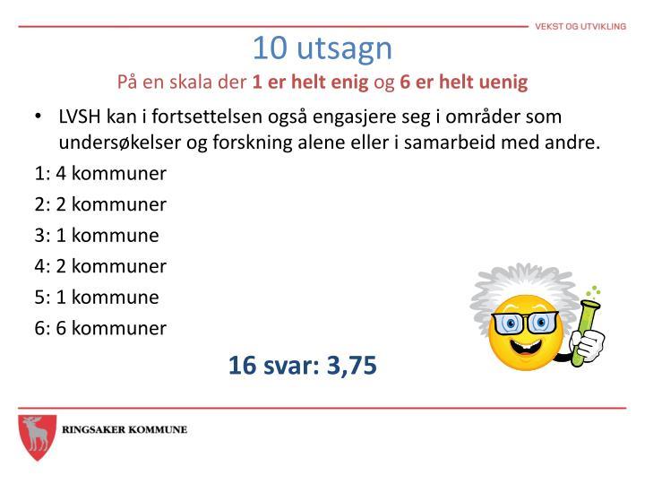 10 utsagn