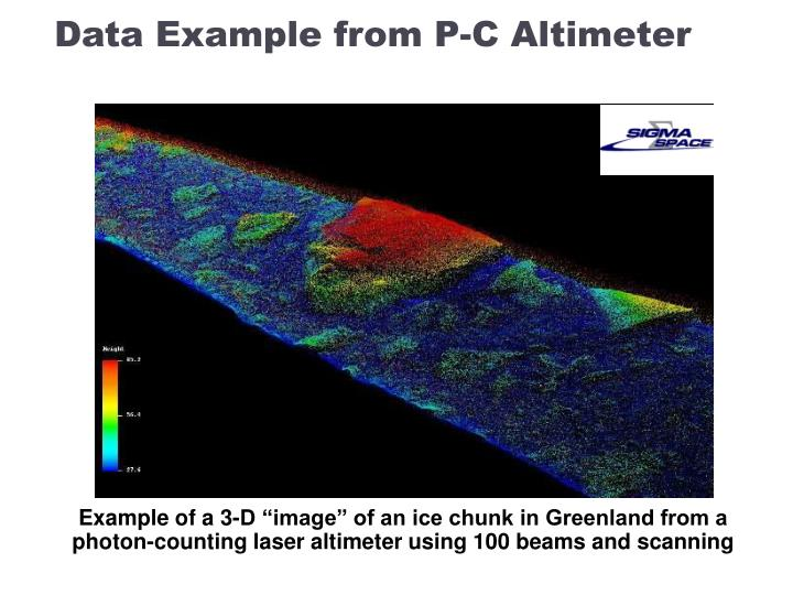 Data Example from P-C Altimeter