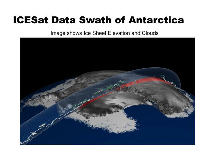 ICESat Data Swath of Antarctica
