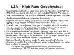 l2a high rate geophysical