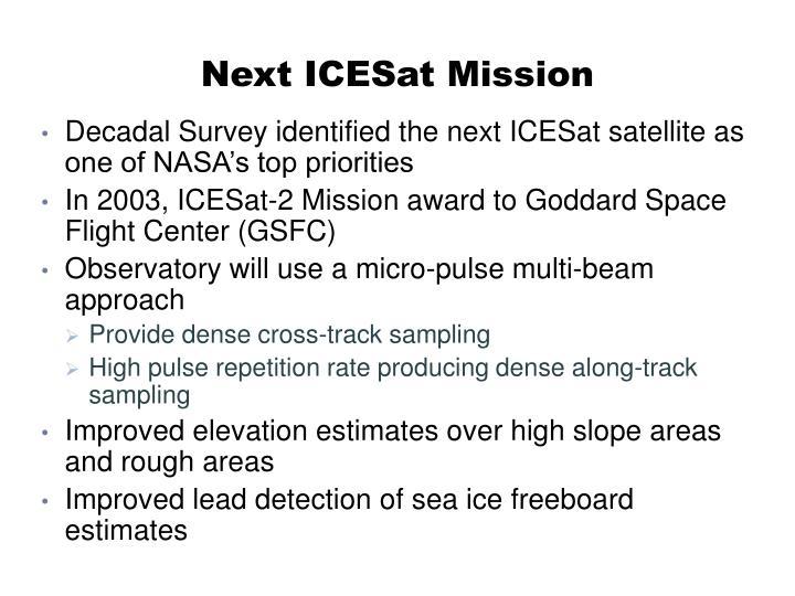 Next ICESat Mission