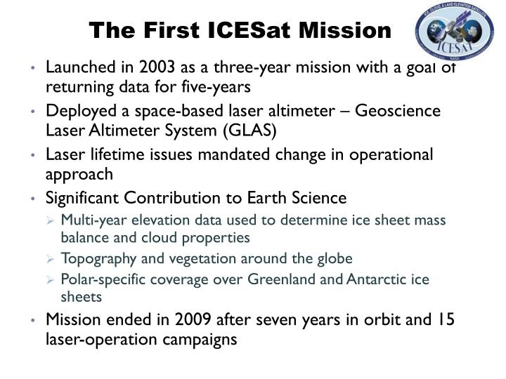 The First ICESat Mission
