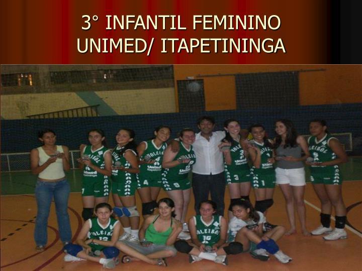 3° INFANTIL FEMININO