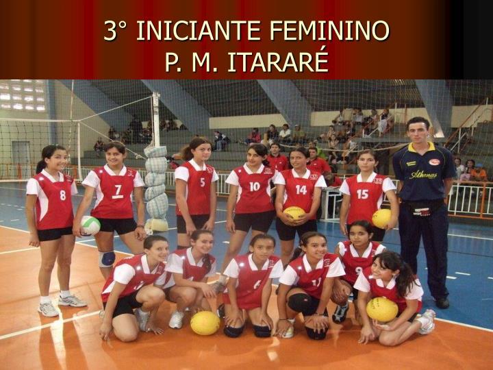 3° INICIANTE FEMININO