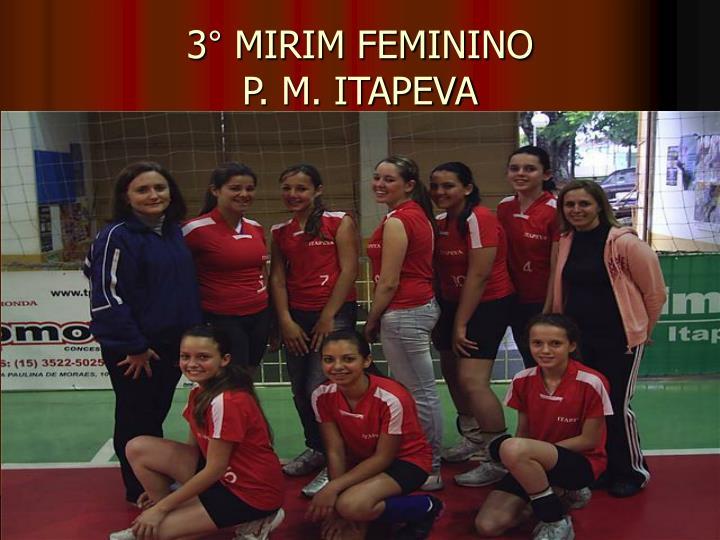 3° MIRIM FEMININO