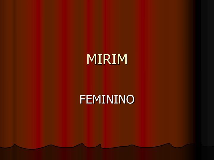 MIRIM