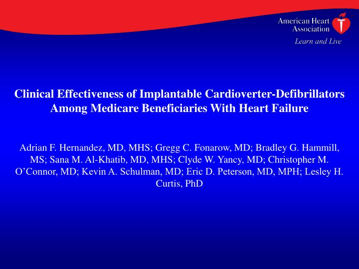 Clinical Effectiveness of Implantable Cardioverter-