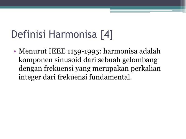 Definisi Harmonisa [4]