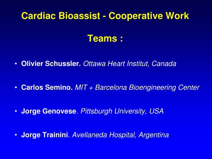 Cardiac Bioassist - Cooperative Work
