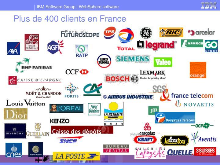 Plus de 400 clients en France