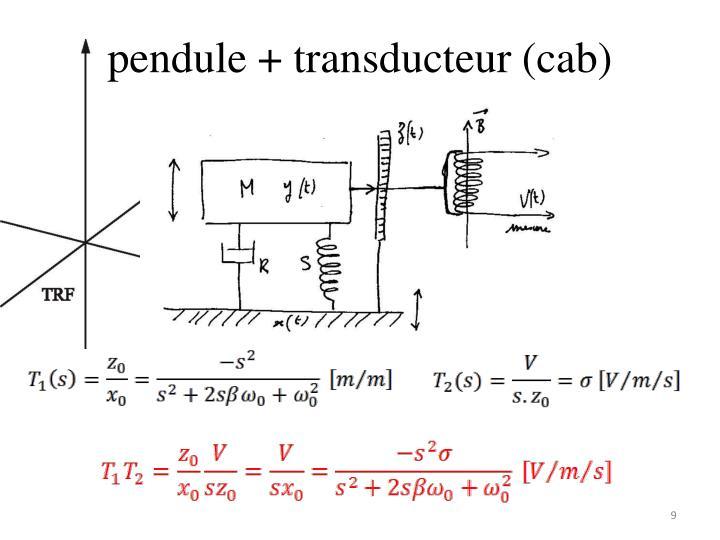 pendule + transducteur (cab)