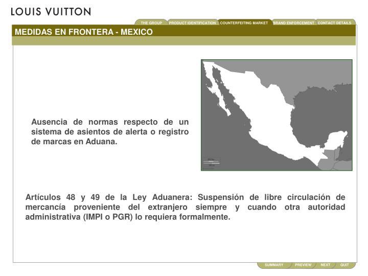 MEDIDAS EN FRONTERA - MEXICO