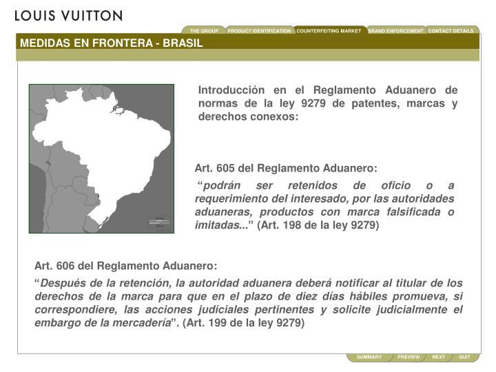 MEDIDAS EN FRONTERA - BRASIL