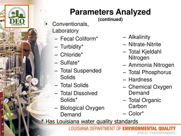 Conventionals, Laboratory