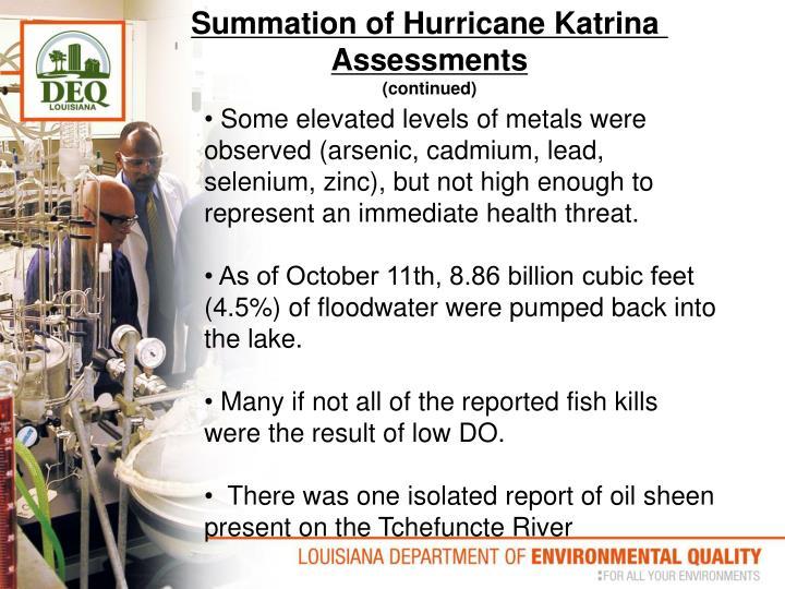 Summation of Hurricane Katrina