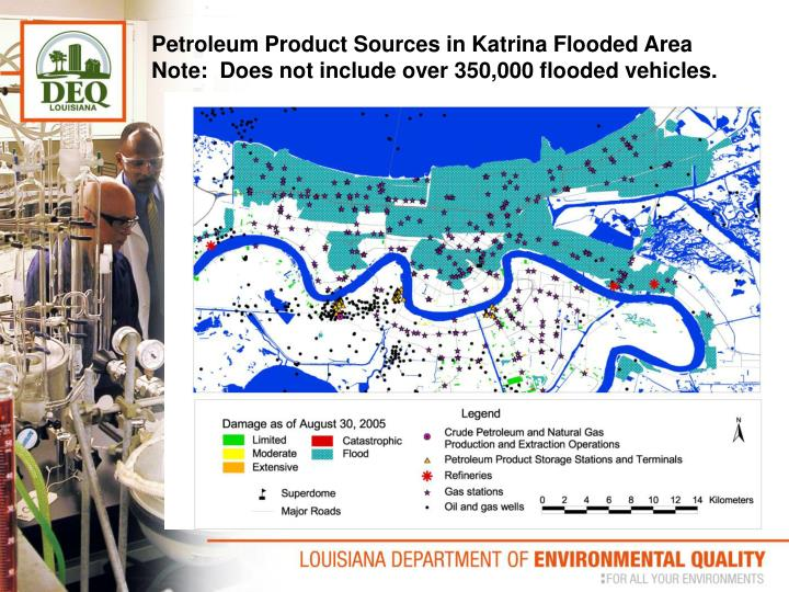 Petroleum Product Sources in Katrina Flooded Area