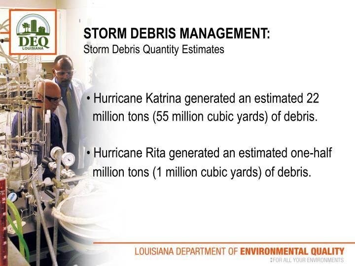 STORM DEBRIS MANAGEMENT: