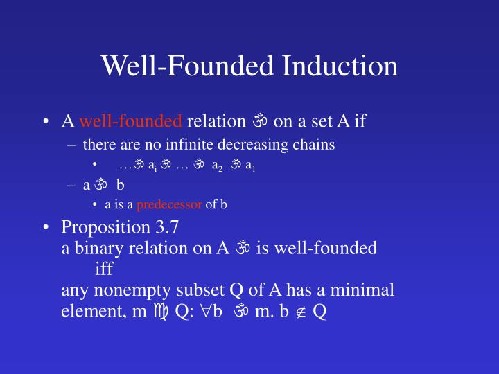 Well-Founded Induction