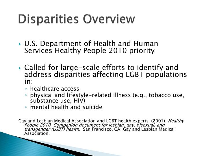 Disparities Overview
