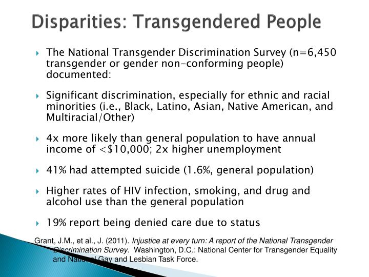 Disparities: Transgendered People