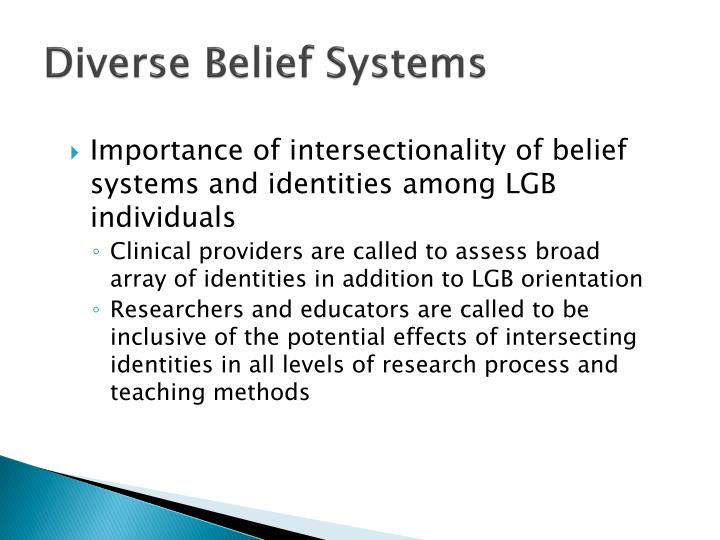 Diverse Belief Systems