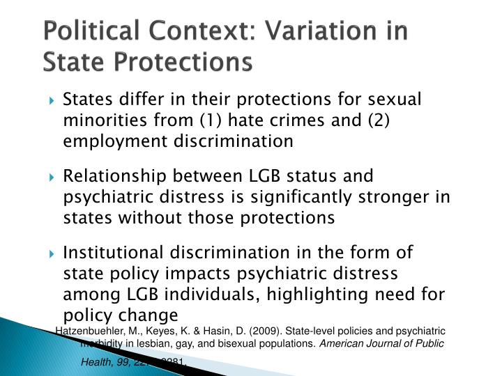 Political Context: Variation in State Protections