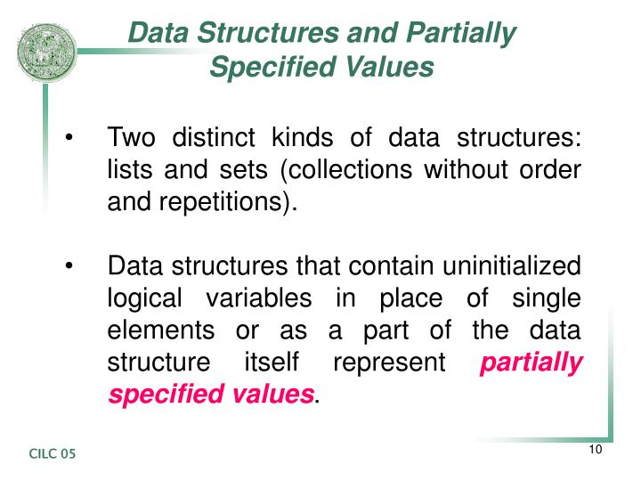 Data Structures and Partially