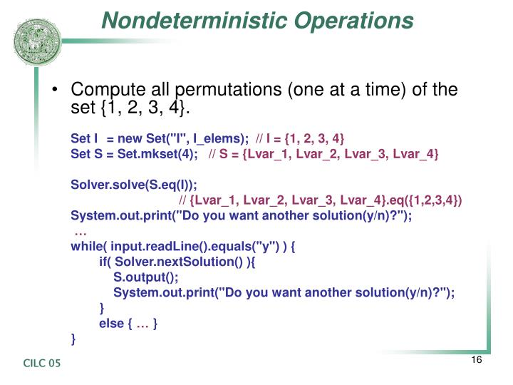 Nondeterministic Operations