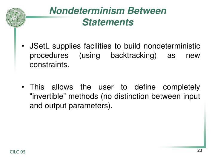 Nondeterminism Between