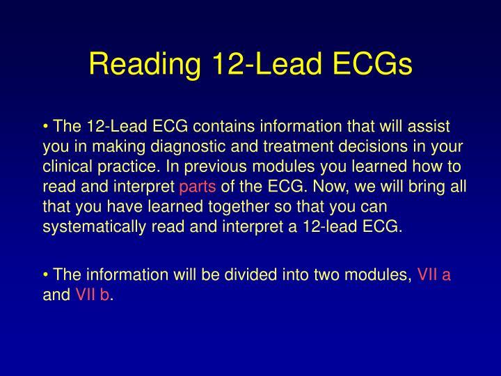 Reading 12-Lead ECGs