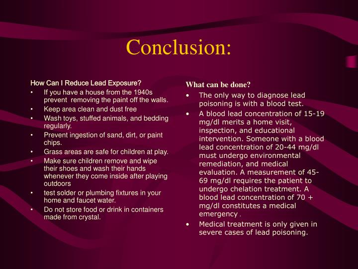 How Can I Reduce Lead Exposure?