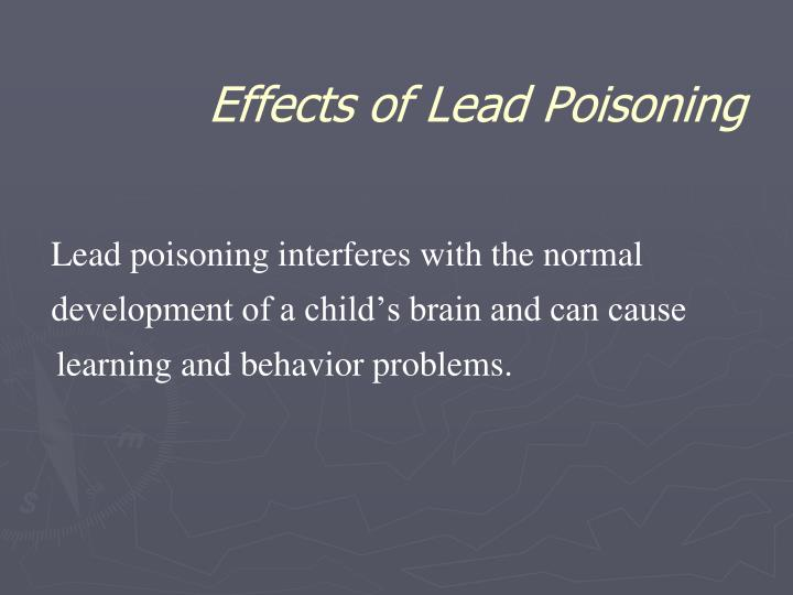 Effects of Lead Poisoning
