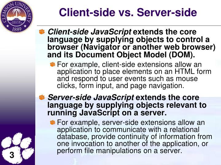 Client-side vs. Server-side