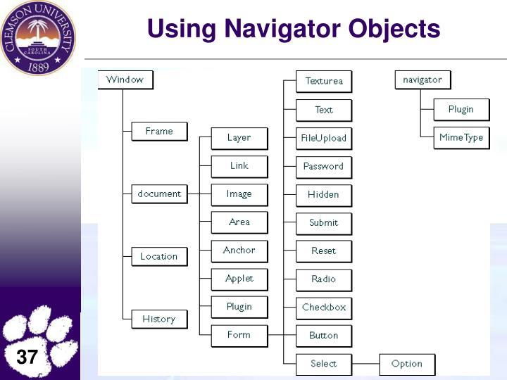 Using Navigator Objects