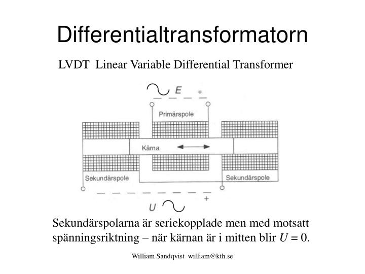 Differentialtransformatorn