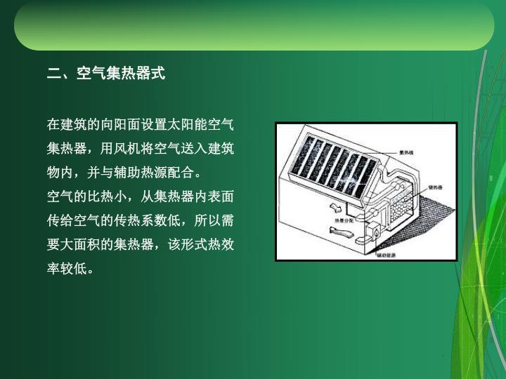 二、空气集热器式