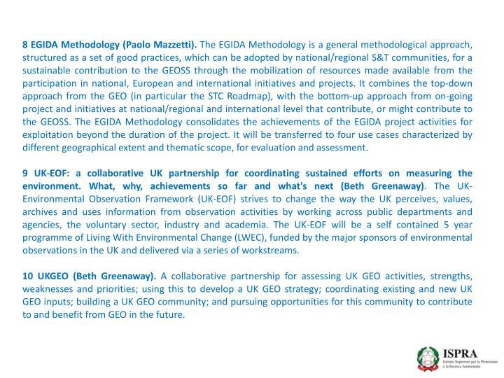 8 EGIDA Methodology (Paolo Mazzetti).