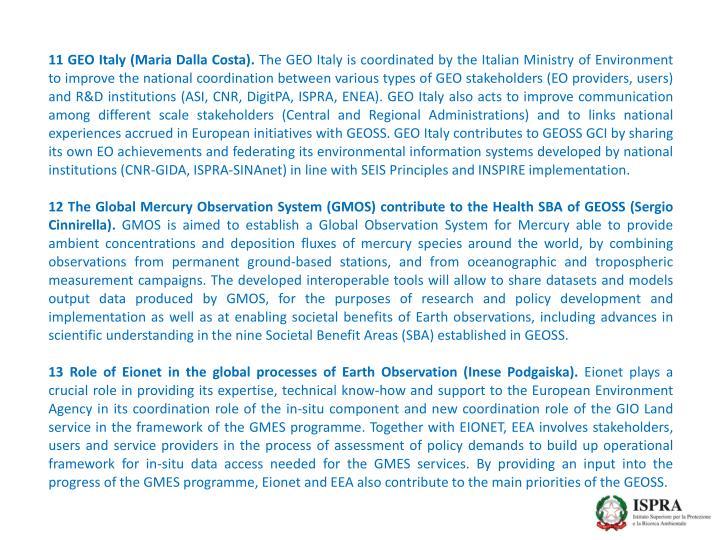 11 GEO Italy (Maria Dalla Costa).