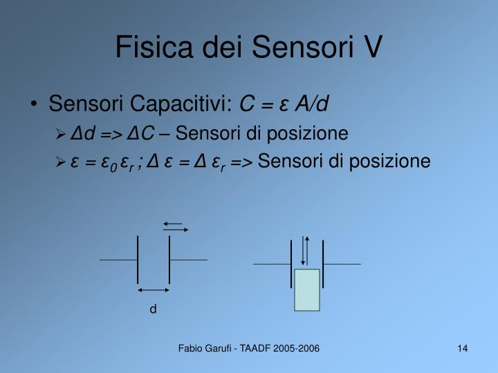 Fisica dei Sensori V