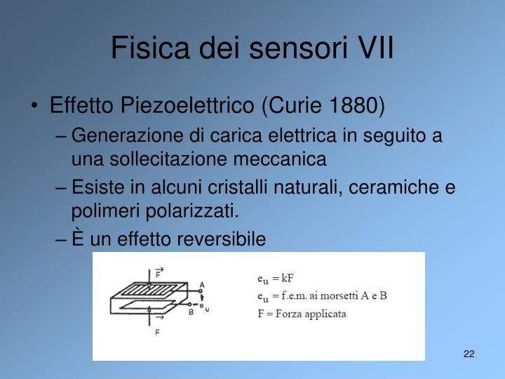 Fisica dei sensori VII