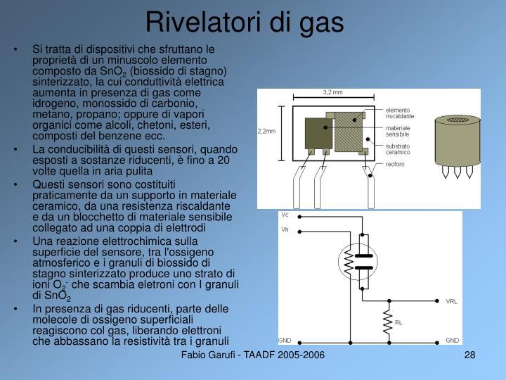 Rivelatori di gas