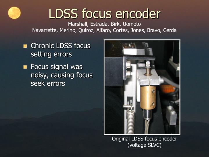 LDSS focus encoder