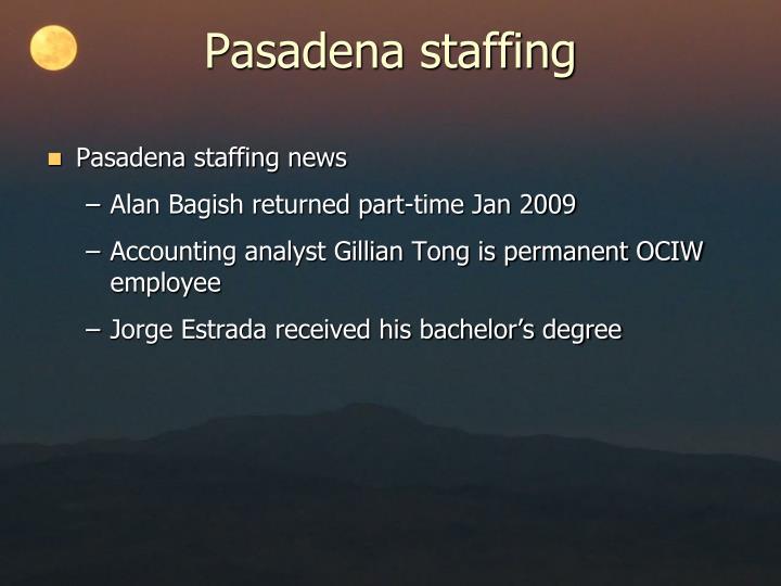Pasadena staffing