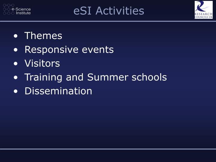 eSI Activities
