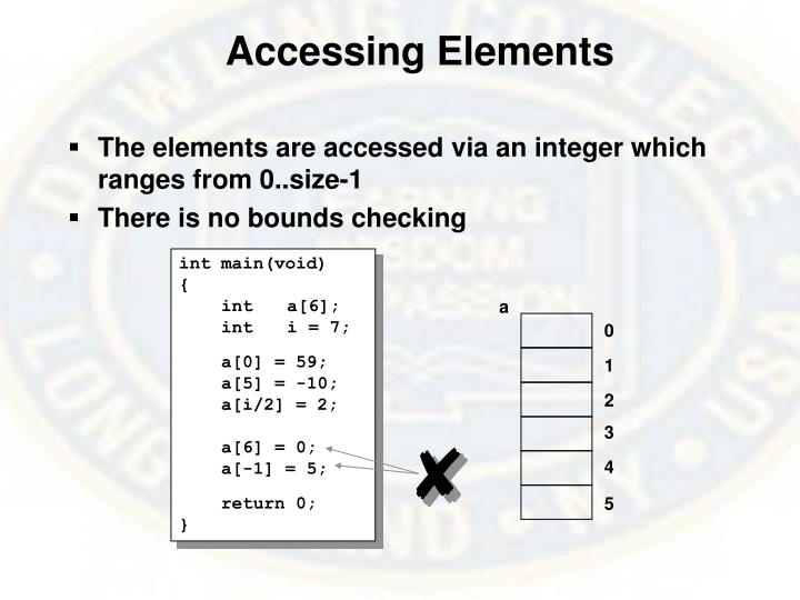Accessing Elements