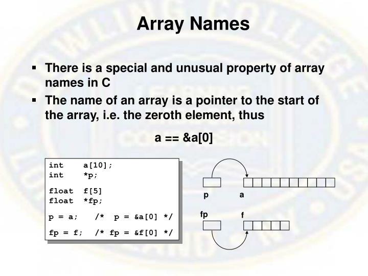 Array Names