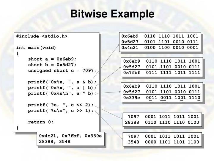 Bitwise Example
