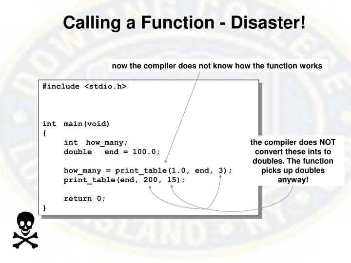 Calling a Function - Disaster!