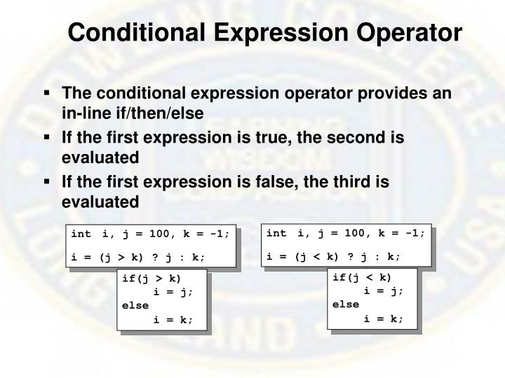 Conditional Expression Operator