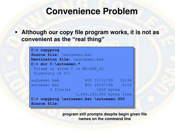 Convenience Problem